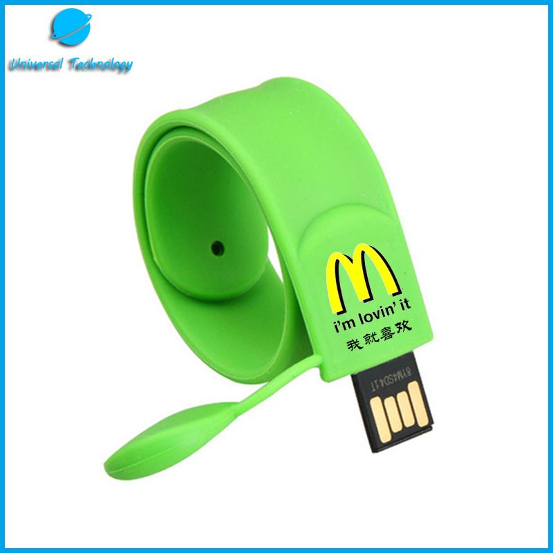 【UNT-U03】Fashion PVC bracelet USB flash drive