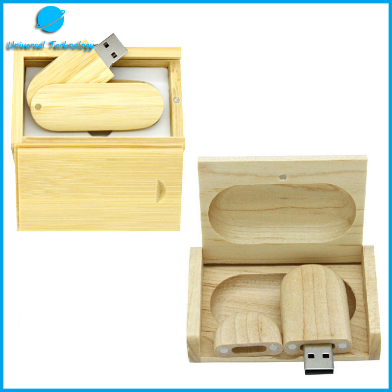 【UNT-U07】Wooden rotating USB Flash Drive