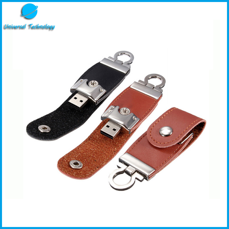 【UNT-U18】clamshell leather usb flash drive with clasp