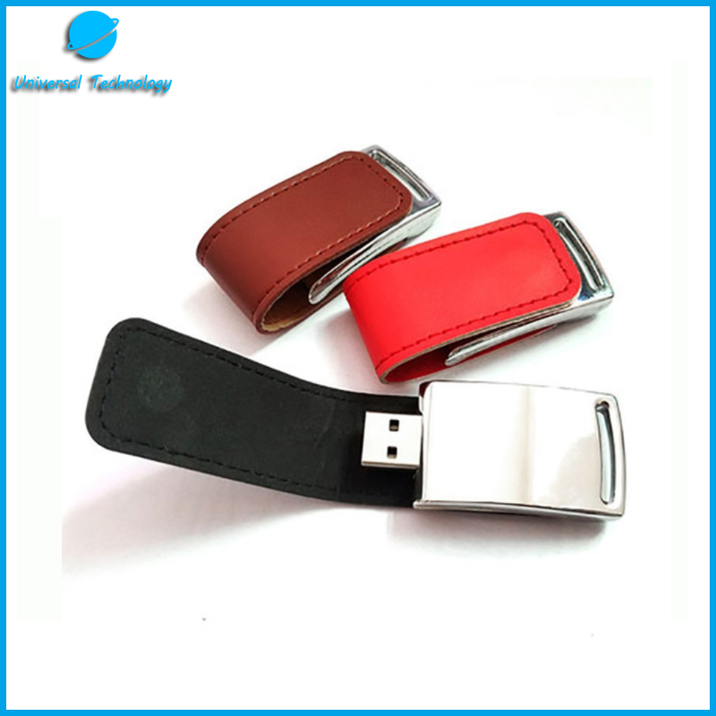 【UNT-U20】Fashion style clamshell leather usb flash drive