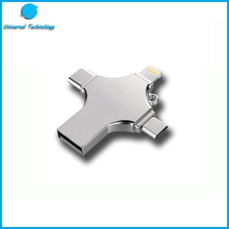 【UNT-U21】Multi Plug Phone USB flash memory