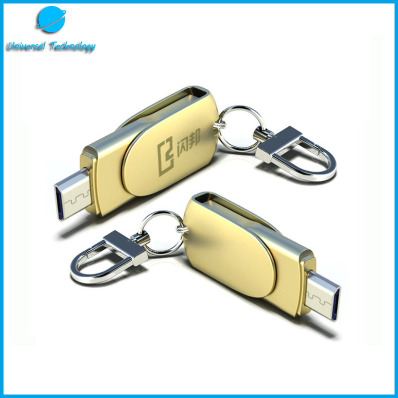 【UNT-U22】Rotary metal OTG usb flash drive