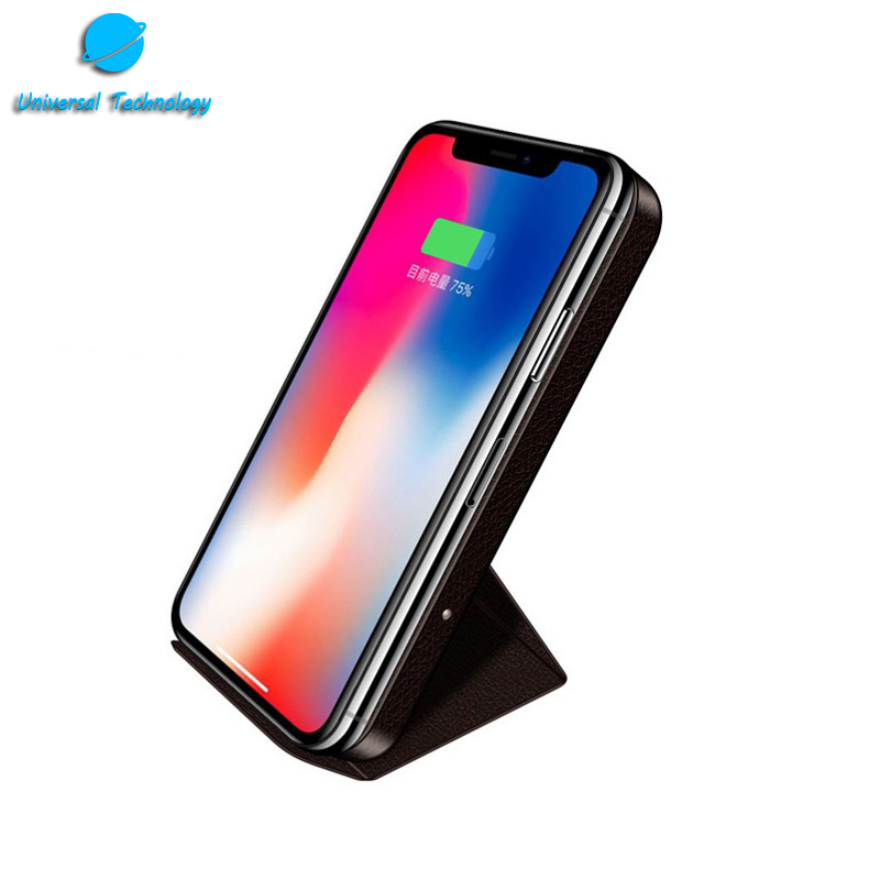 【UNT-WPC23】Leather magnetic suction mobile phone stand wireless charger