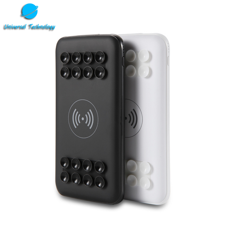 【UNT-WPC18】10000mAh Mobile power bank wireless charge with suction cup