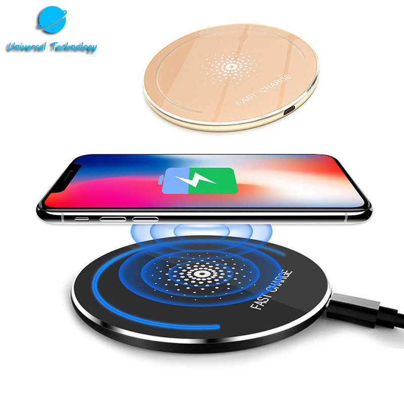 【UNT-WPC16】Round mirror with breathing light coil wireless charger