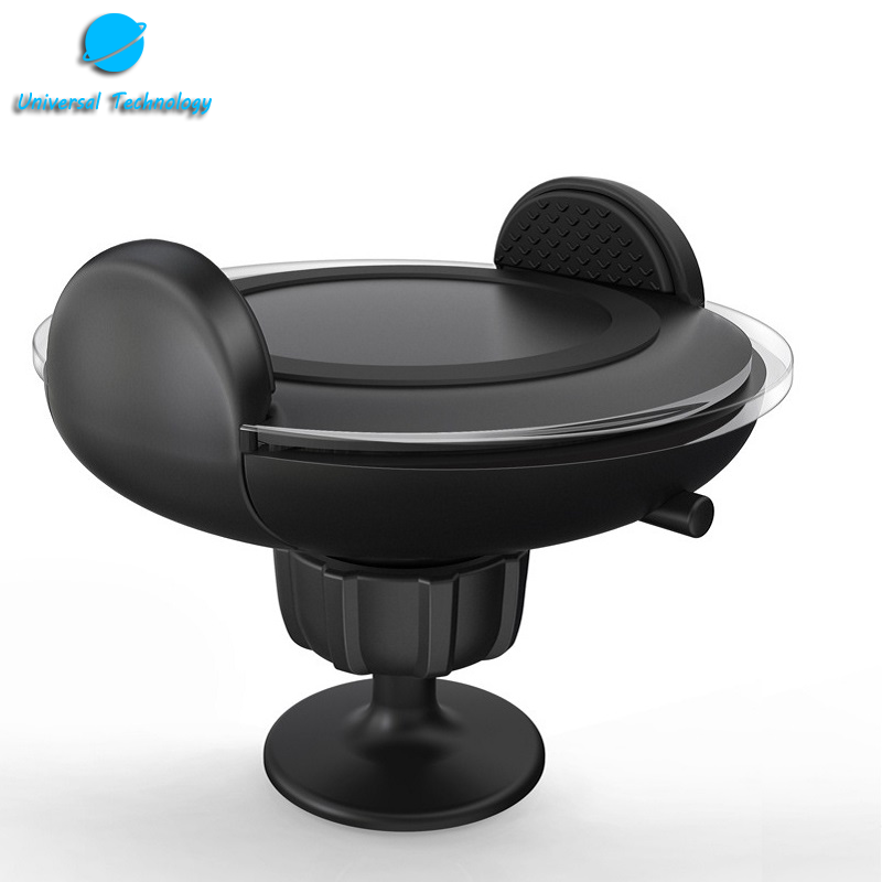 【UNT-WPC09】New fashion Wireless Car Mount Charger with cooling window