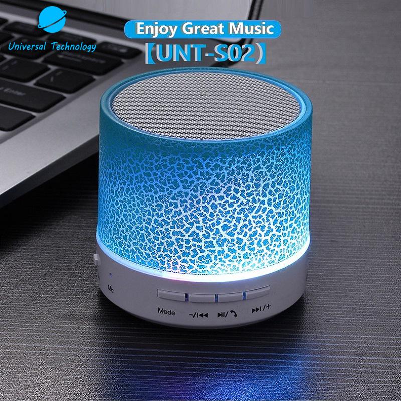 【UNT-S02】Color light crack bluetooth speaker