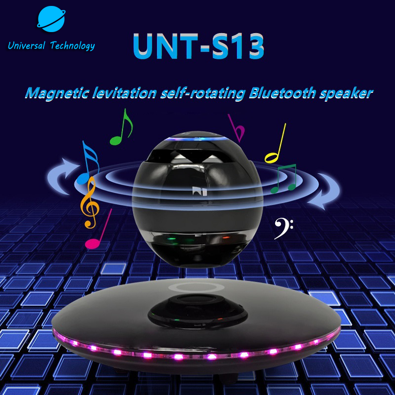 【UNT-S13】Magnetic Levitation Self-rotating Bluetooth Speaker