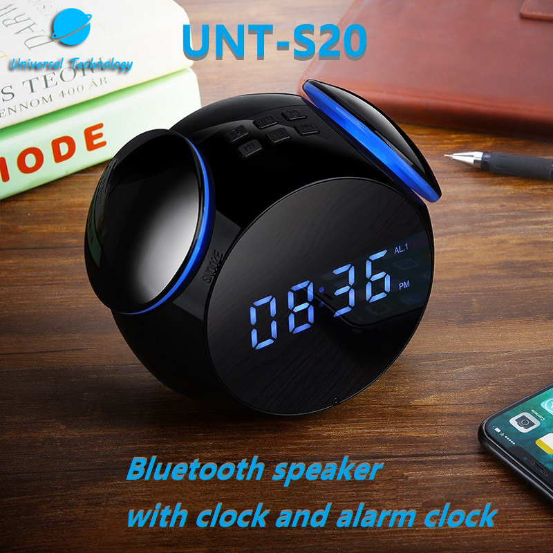 【UNT-S20】Bluetooth Speaker With Clock And Alarm Clock