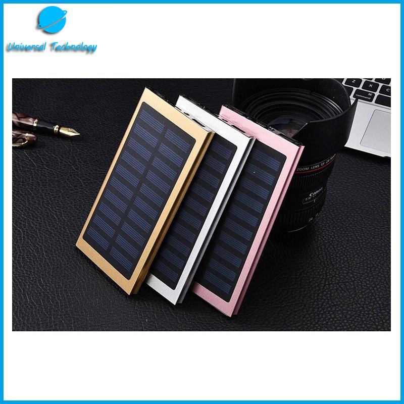 【UNT-P04】20000mAh digital display metal solar energy mobile power bank