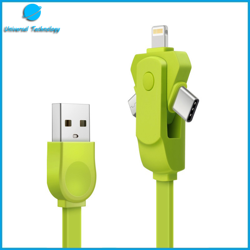 【UNT-C09】 3 in 1 rotating USB cable