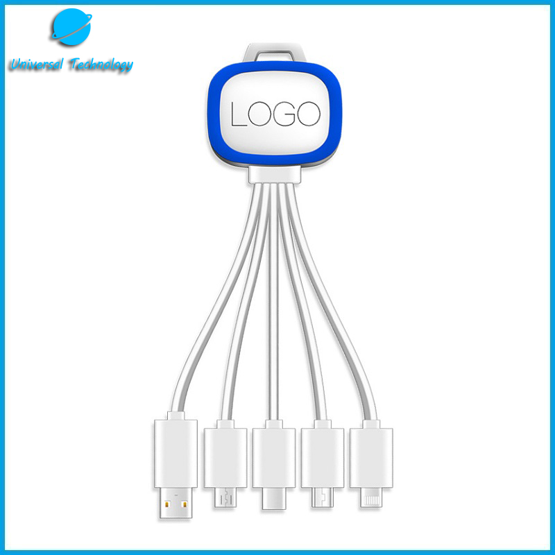【UNT-C12】LED luminous logo 3 in 1 Key USB Cable