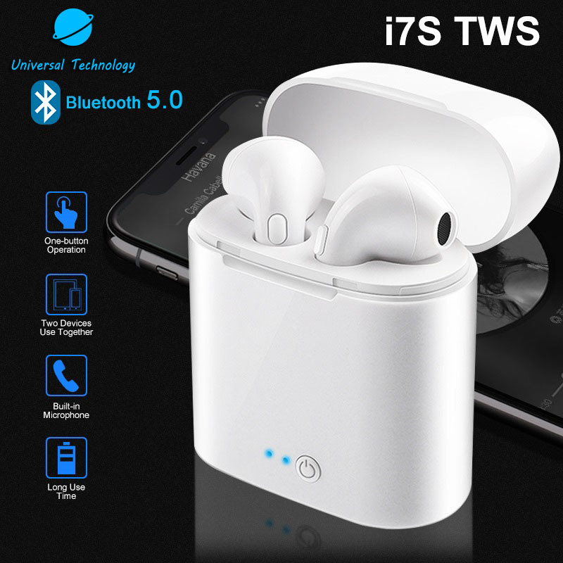 【UNT-i7S】i7s TWS blue tooth earphone, V4.2 bluetooths wireless