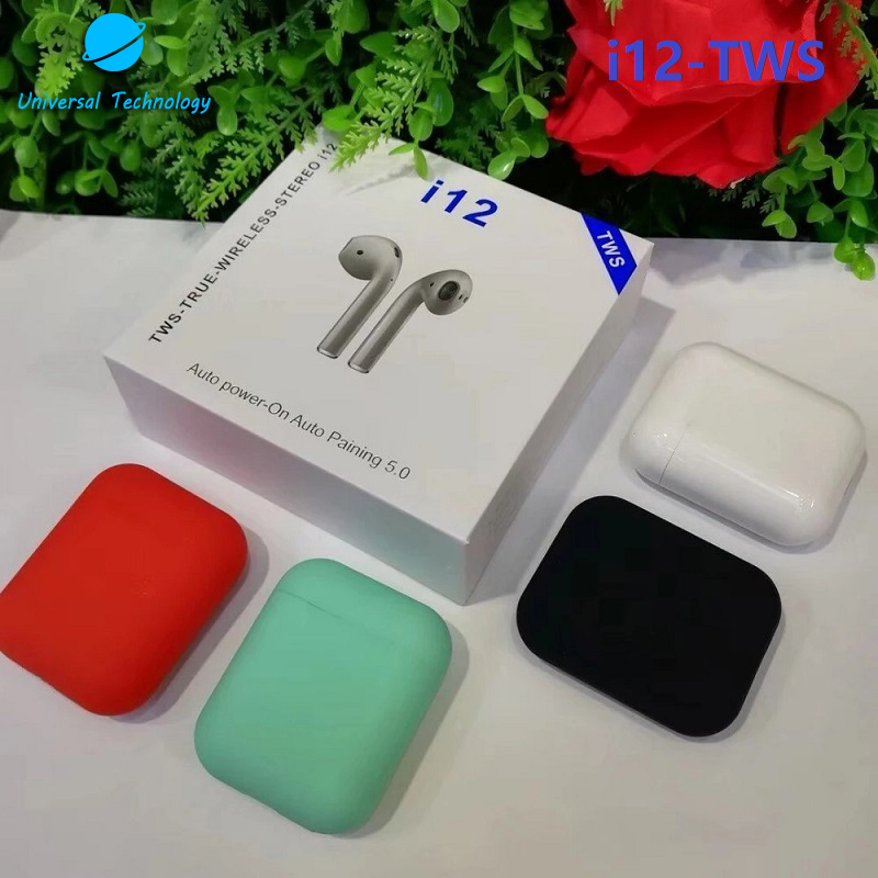 【UNT-i12】2019 i12 TWS Bluetooth 5.0 Touch Sensor Mini Sport Bluetooth Earphone