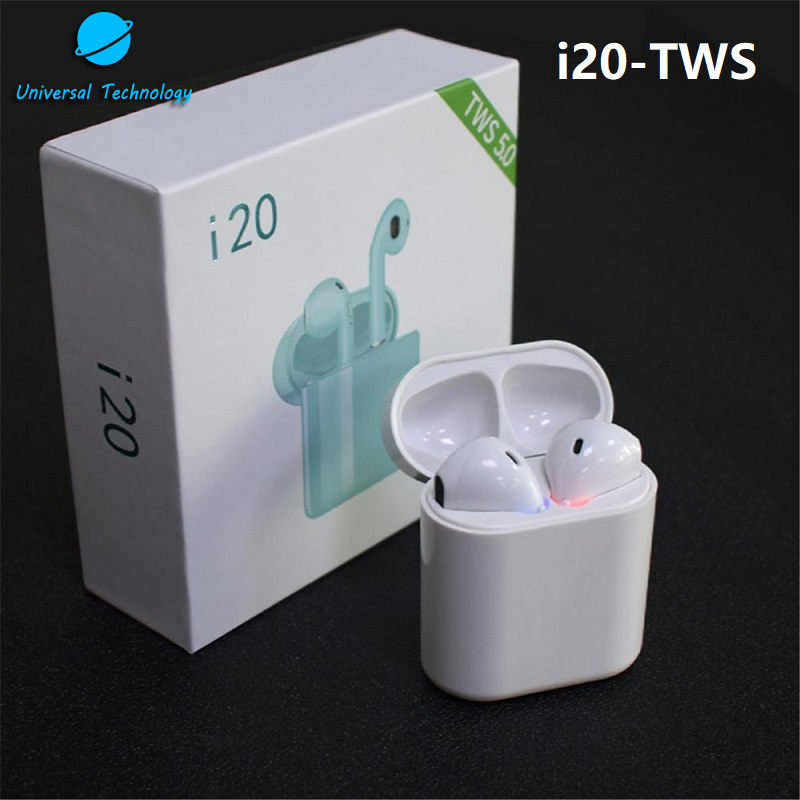 【UNT-i20】2019 New Arrival wireless earbuds color i20 tws Bluetooths earphone
