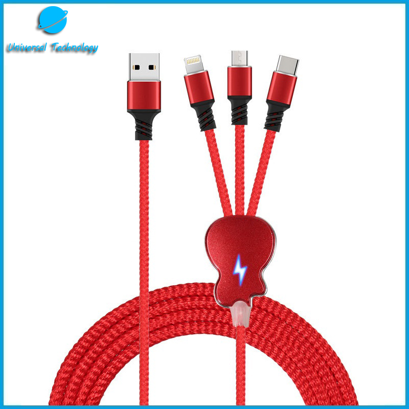 【UNT-C13B】Guitar 3 IN 1 charging cable