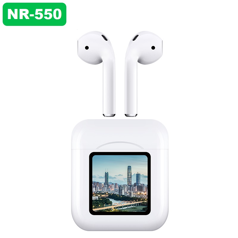 【NR-550】 Upload private photos Wireless Charging LED Power Display TWS Bluetooth 5.1 Earphones