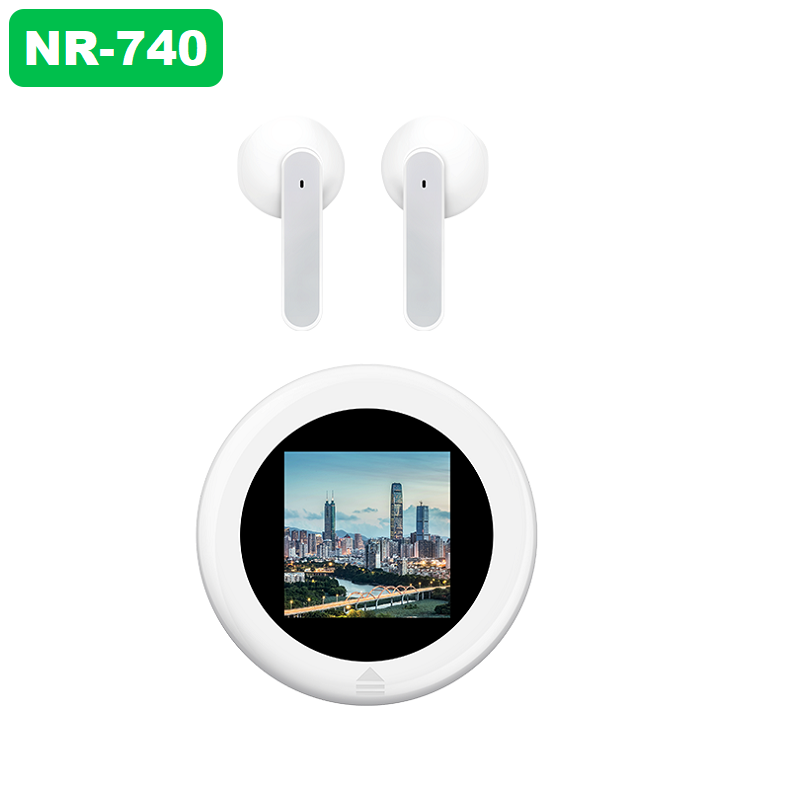 【NR-740】 Upload private photos Wireless Charging LED Power Display TWS Bluetooth 5.1 Earphones